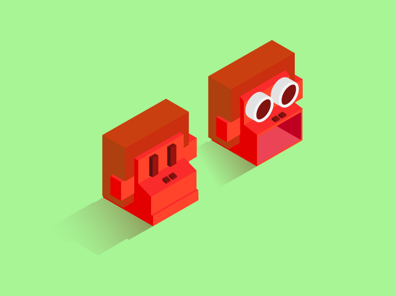Zookeeper - Gorilla game mobile game zookeeper battle zookeeper vector isometric iso icon animal gorilla