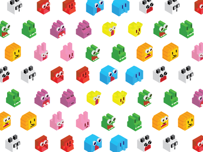 Zookeeper animals animal pattern isometric icon zookeeper tape