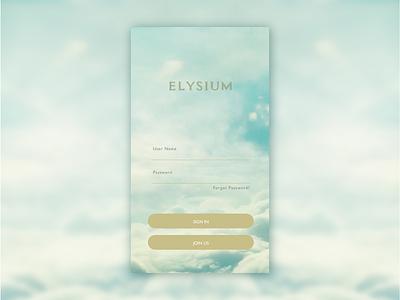 Daily UI 001 dailyui sketch sketchapp login join us sky ui iphone elysium daily ui 001