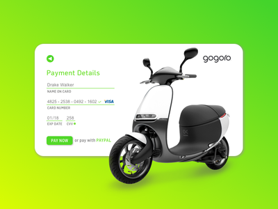 Daily UI 002 design sketch sketchapp ui gogoro checkout form daily ui 002 daily ui scooter
