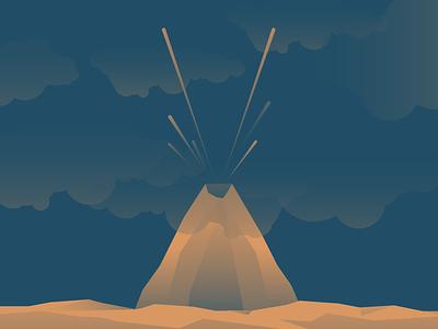 V for Volcano mountain challenge letter v typehue volcano