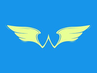 Wings, Typehue Week 23: W icon w letter type typehue wing wings