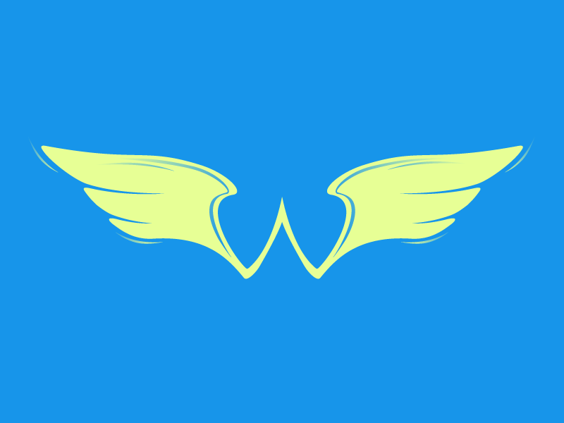 Wings, Typehue Week 23: W icon w letter type typehue wing wings