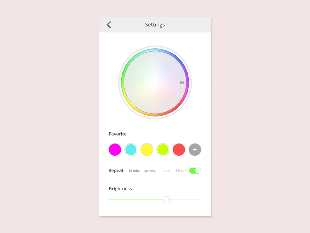 Daily UI 007 Settings dailyui 007 color uidesign design dailyui figma settings ui ui mobile settings