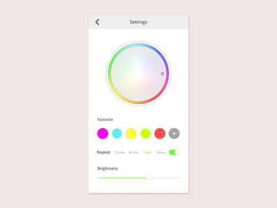 Daily UI 007 Settings dailyui 007 color uidesign design dailyui figma settings ui ui mobile settings