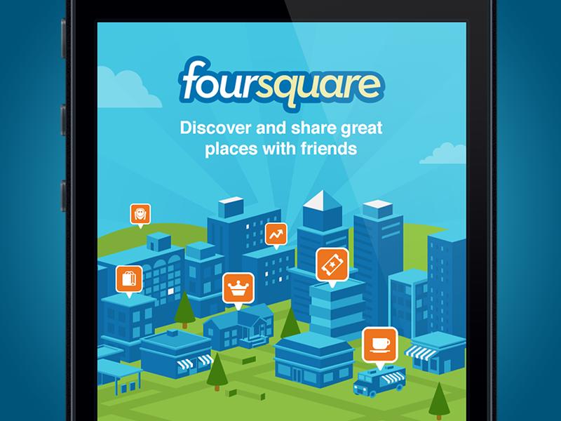Foursquare Login Screen by Mark Kupasrimonkol on Dribbble