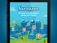 Foursquare Login Screen