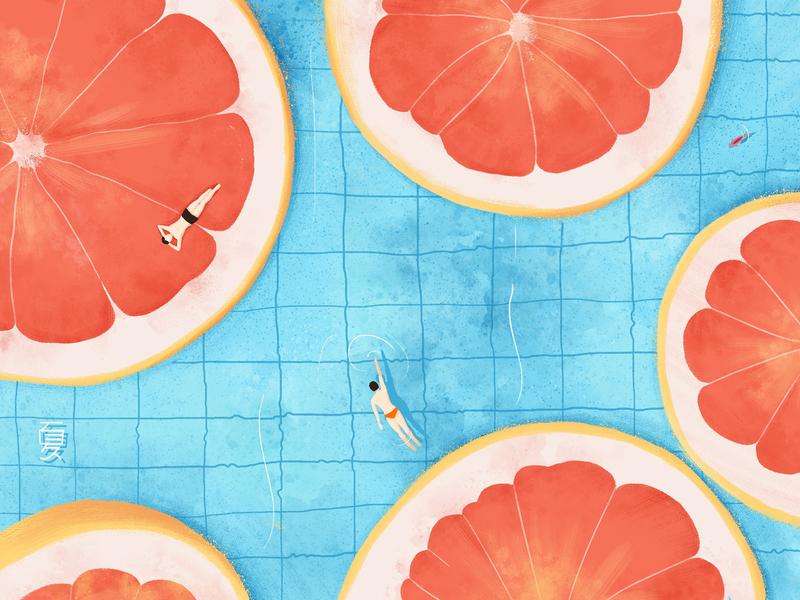 Summer flat illustration