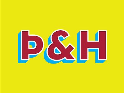Þ & H design wip typography