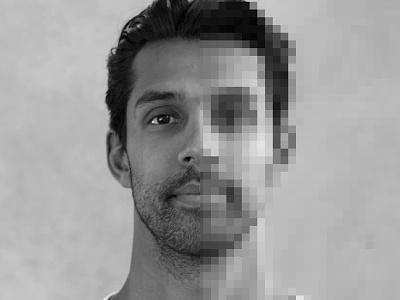 Half human. Half pixel.