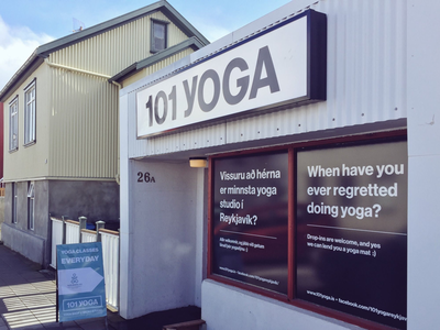 101 Yoga sign typography print