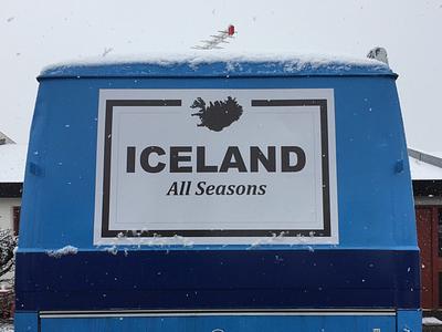 Iceland All Season logo print