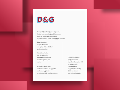 D&G poster typography print