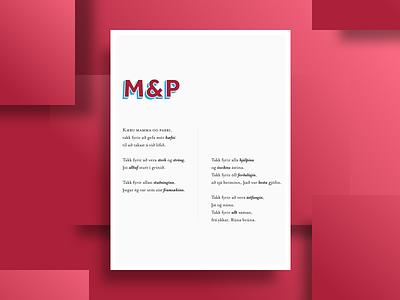 M&P poem poster typography print