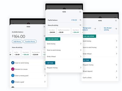 More menu explorations wip design ui app
