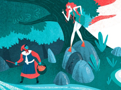 Laminak-Conte basque character design conte illustration
