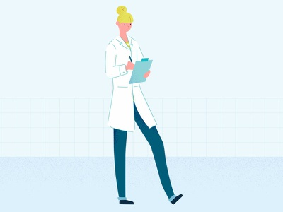 Chercheuse research woman illustration character