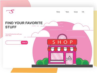 Online shop web design character vector user interfaces ux designer illustration design graphic ui web design uiux ui designer wed design