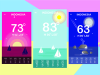 Mobile Design  of weather