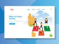 UI for yoga design website