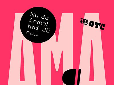 OTC AMA fonts glyph font design character typeface font typedesign type design typography type