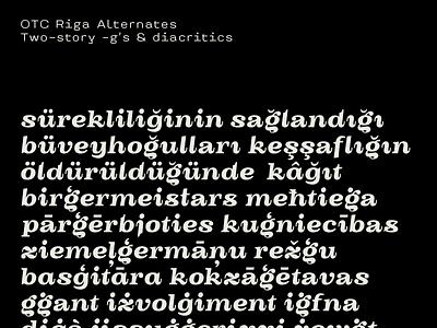OTC Riga Diacritics fonts glyph font design character typeface font typedesign type design typography type