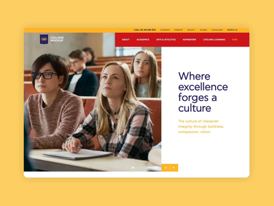 UI Design for an Educational Institution