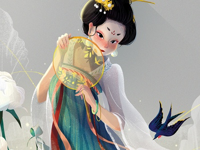 Traditional clothes of China -character design