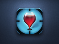 Wineglass location iPhone icon