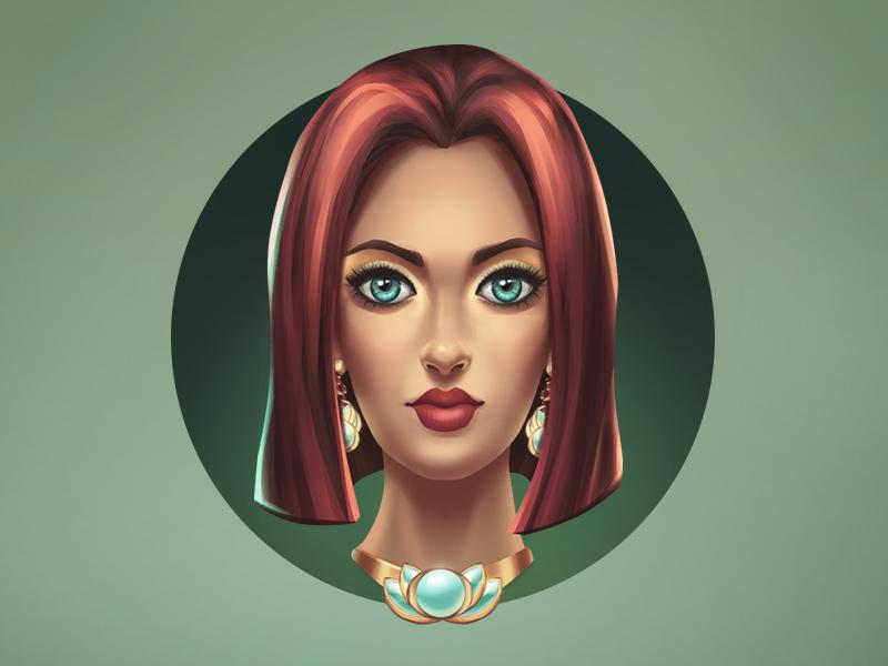 Girl illustration portrait girl
