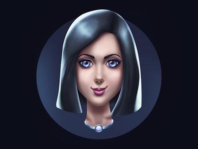 Girl character portrait girl illustration