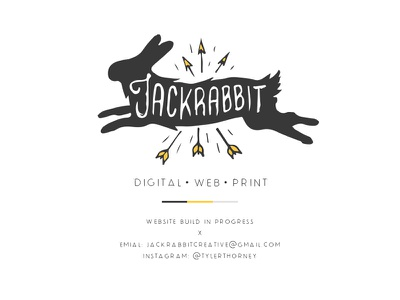 Jackrabbit Creative design logo branding jackrabbit rabbit illustration web print digital graphic design