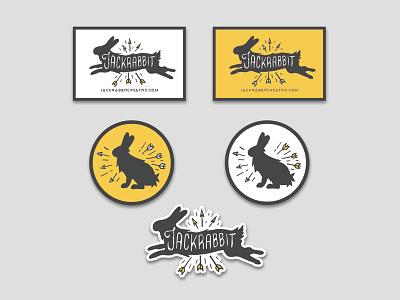 Jackrabbit Patches design logo branding jackrabbit rabbit illustration web print digital graphic design patches stickers