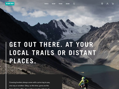 Yeti Cycles Stories Landing Page blog cycling bike landing page ecommerce website mountain bike