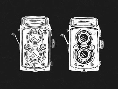 Rolleiflex logo photography photo drawing sketch handcrafted illustration handmade hand drawn camera rolleiflex
