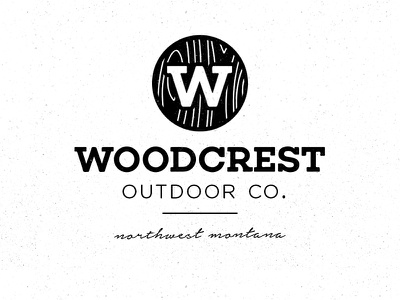 Woodcrest Logo outdoors badge illustration woodcrest handcrafted handmade hand drawn logo