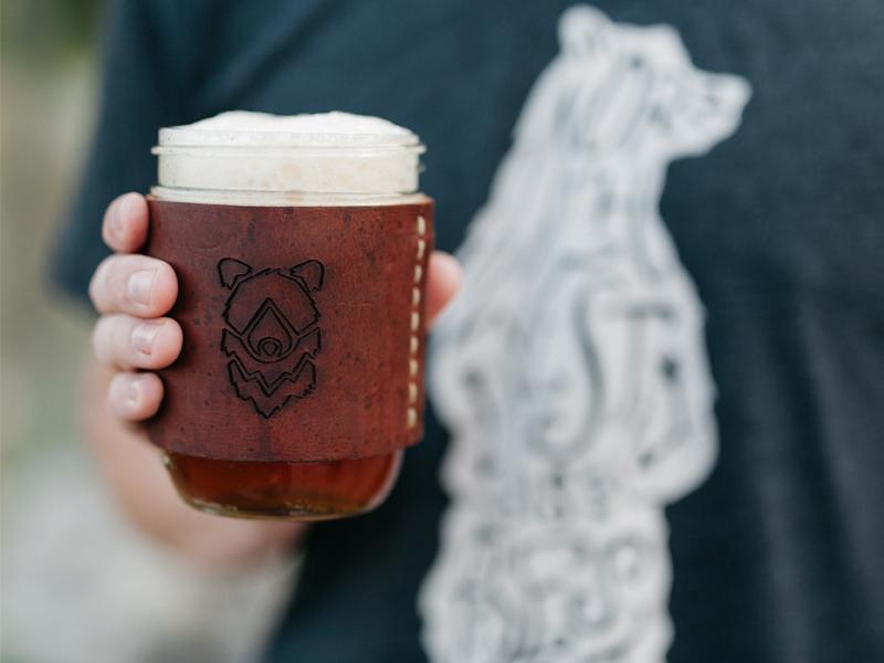 Tribal Bear Mug beer outdoors logo illustration sketch handmade hand drawn apparel product mug