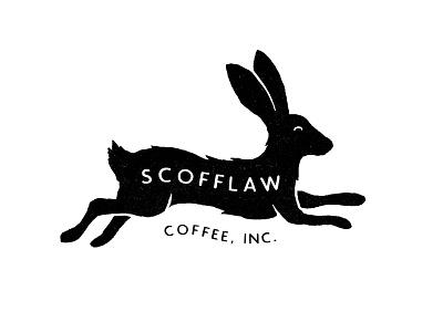 Scofflaw Coffee badge rabbit coffee mark branding sketch handmade hand drawn illustration logo