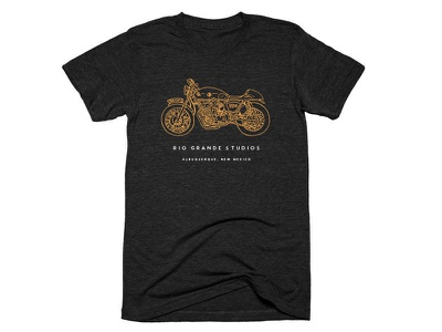 Rio Grande - Shirt Mockup handcrafted hand drawn handmade shirt studio cafe moto illustration