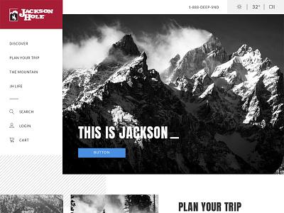 Jackson Hole layout jackson hole snowboarding ecommerce website home page styleguide