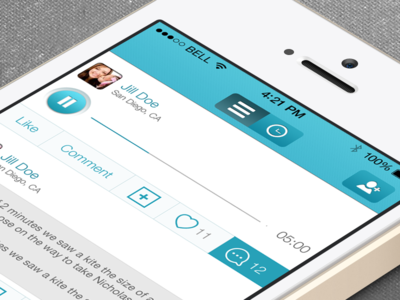 UX/UI/IOS iPhone social app design