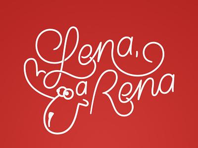 Lena, a Rena christmas lettering monoline type vector handlettering calligraphy