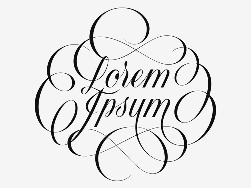 Lorem Ipsum classical lorem ipsum elegant flourishes customtype lettering vector type typography calligraphy handlettering