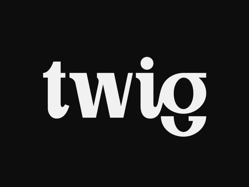 Twig sustainability travel twig wordmark branding identity mark logodesign logo logotype brand customtype typography vector type
