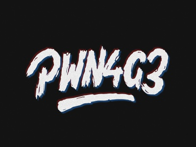 PWN4G3 gaming rough grunge illustration customtype lettering typography vector type handlettering