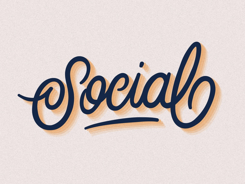 Social grain adobe illustrator social monoline customtype lettering typography vector type calligraphy handlettering