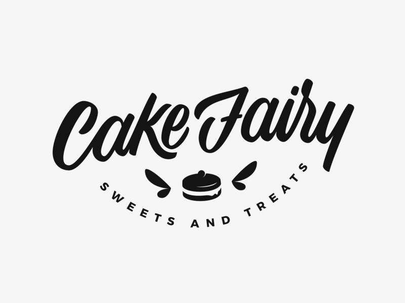 Cake Fairy fairy cake bakery branding identity logodesign brand logo logotype customtype lettering typography vector type calligraphy handlettering