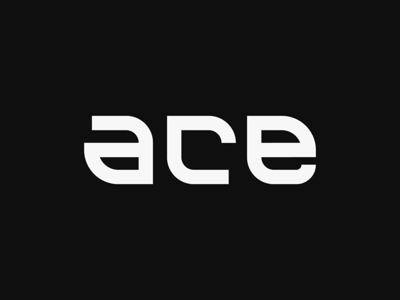 Ace practice wordmark mark identity logodesign brand logotype logo customtype lettering typography vector type ace