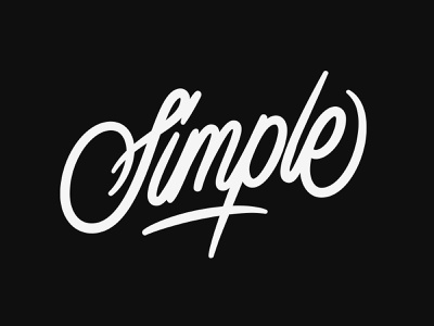 Simple adobe illustrator monoline customtype lettering typography vector type calligraphy handlettering