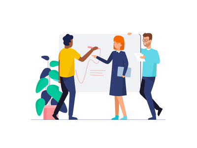Teamwork & Startup Illustrations illustrated website illustration landing page flat illustrations illustration pack coworkers job startup startup life flat illustration teamwork ui ux